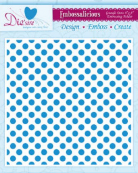 GRAND DOTS ~ 8x8 ~ CRAFTERS COMPANION EMBOSSALICIOUS